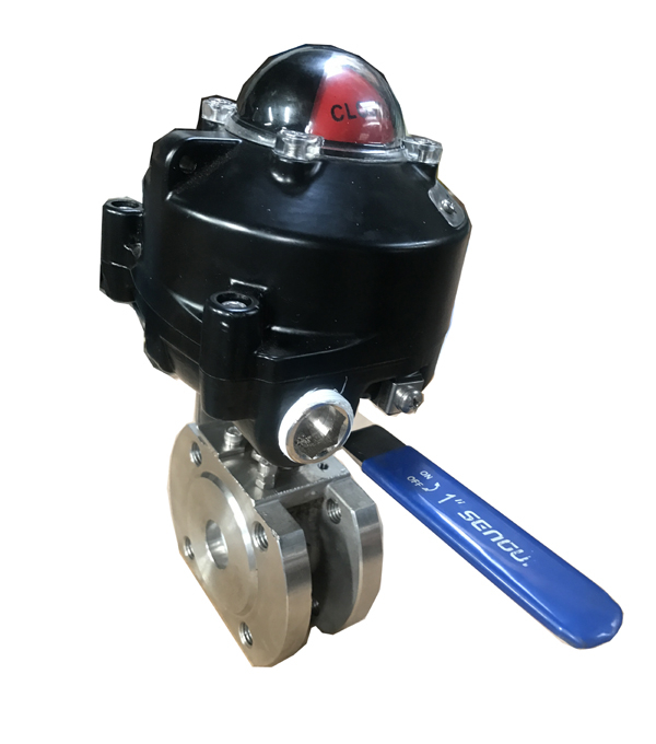 Manual Ball Valve with Limit Switch Feedback